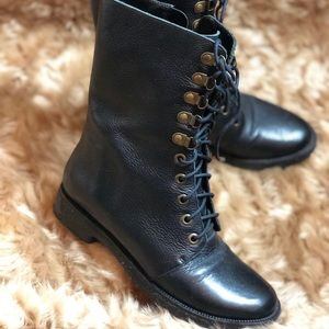 DVF Diane Von Furstenberg Real Leather Combat boot